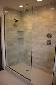[ Interesting Glass Doorless Walk Shower Double Contemporary Bathroom Small  Ideas With Tray Ceiling Baby ] - Best Free Home Design Idea & Inspiration