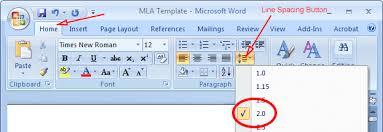 Mla Format Template Word 2007 Mla Format Microsoft Word 2007 Mla Format