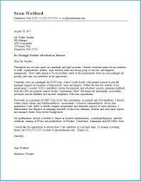 Free Cover Letter Examples Astonishing Legal Cover Letter Sample As An Extra Ideas