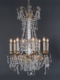 stunning pair of french antique crystal chandeliers