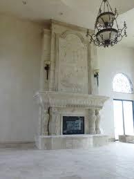 custom stone fireplaces custom modern cast stone fireplace