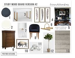 Interior design for home office Amazing Postbox Designs Interior Edesign Home Office Design With Navy Shelves Study Decor Postbox Designs Trend Alert Home Office Navy Builtins Real Study Makeover Reveal