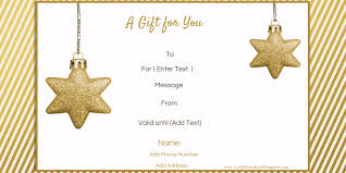 Customized Gift Certificates Free Editable Christmas Gift Certificate Template 23 Designs