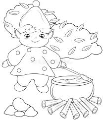 Small Picture Elf Cooking Coloring Page Stock Illustration Image 51223777