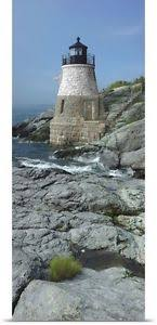 image is loading poster print wall art entitled lighthouse along the  on castle hill wall art with poster print wall art entitled lighthouse along the sea castle hill