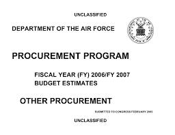 Procurement Program Other Procurement Department Of The Air