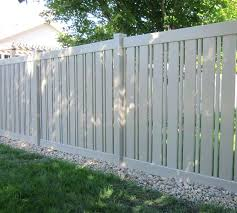black vinyl picket fence. Black Vinyl Fence 5 Standard With Alternating Picket Semi Privacy Lowes .