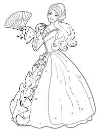 Small Picture Fancy Barbie Princess Coloring Pages 71 About Remodel Coloring