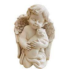 realideas 7 resin angel with cat