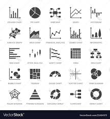 Different Types Of Graphs And Charts Chart Types Flat Glyph Icons Line Graph Column