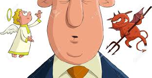 Image result for caricature of man making decisions