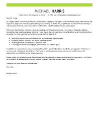 Writing A Cover Letter Template 5 Accounting And Finance Example