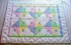 Log Cabin Infant Quilt - Amish Spirit: Handmade Quilts For Sale &  Adamdwight.com