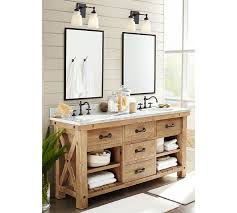 reclaimed bathroom furniture. Benchwright Reclaimed Wood Double Sink Console Wax Pine Finish Vanity Home Pictures Bathroom Furniture