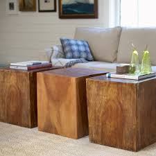 convertible wood cube accent tables vivaterra mirrored coffee table v041x set