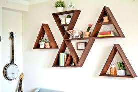 marvelous ideas geometric floating shelves triangle wall shelf 9 trendy geometric wall shelf projects