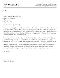 Sample Administrative Assistant Cover Letter Impressive Medical Assistant Cover Letters Resume Cover Letter No Experience