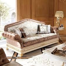 Yb62 Elegant Wit Goud Woonkamer Sofa Setluxe Goud Geschilderd