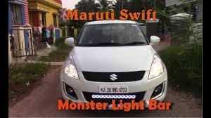 Swift Car Led Lights Modified Cars Mangalore Light Bar Maruti Swift Youtube