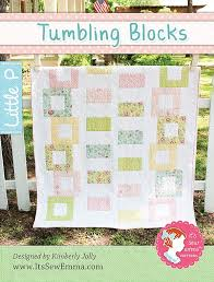Baby Block Quilt Patterns Amazing Tumbling Blocks Quilt Pattern It's Sew Emma Little P ISE48 It's