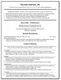 New Graduate Registered Nurse Resume New Resume For Nursing Job