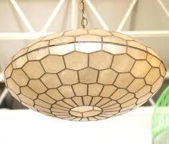 capiz shell ceiling light pendant world market hand blown wonderful decoration metal base hanging lamp contemporary