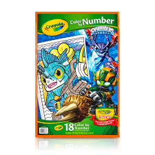 Small Picture Buy the Crayola Color by Number Book Skylanders at Michaels