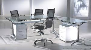large l shaped office desk. l shape metal and glass office desk with drawer cabinet chairs large shaped o