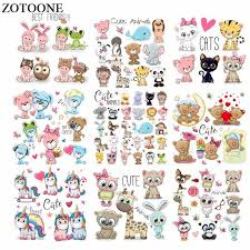 <b>ZOTOONE Iron</b> on <b>Cute</b> Animal Patches for Kids Clothes DIY T shirt ...