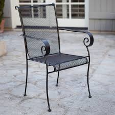 black polished metal outdoor chair with solid seat and back patio chairs also outside furniture pretty wire mesh 22