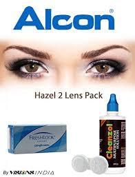 Freshlook Color Contact Lenses 2 Lenses Box Hazel Monthly