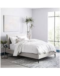 west elm king bed frame. Brilliant Frame West Elm Andes Deco Upholstered Bed Full Distressed Velvet Metal In King Bed Frame D