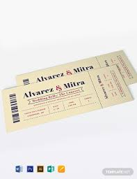 Concert Invite Template Free Concert Ticket Invitation Template Word Psd