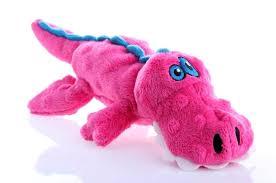 og og gator dog toy with chew guard pink image