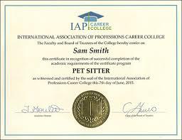 babysitting certificates pet sitter certificate course pet sitting certificate how