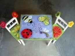 painted table ideasHand Painted Childrens Table And Chairs  Foter