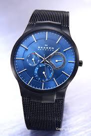 trend watch rakuten global market skagen skagen mens watch skagen skagen mens watch titanium multifunction titanium multifunction black x blue 809 xltbn
