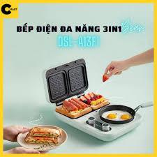 Bếp Điện Đa Năng 3in1 Nướng Bánh Mỳ, Chiên, Xào BEAR DSL-A13F1 [CMART GIA  DỤNG TIỆN ÍCH] giá cạnh tranh