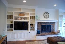 ... Terrific Built In Bookshelves Around Tv Built In Tv Wall Unit Plans  White ...
