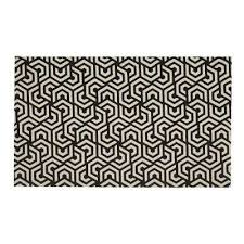colonial black white 2 ft x 5 ft indoor outdoor runner rug