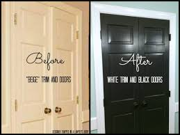 Black Doors and White Trim: Easy Project, Big Impact! | Designer Trapped