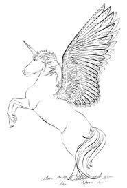 Disegno Di Unicorno Con Ali Da Colorare Disegni Da Colorare E