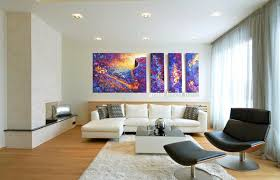 Large Colorful Wall Art Paintings In Black And White Living Room with Large  Living Room Wall