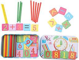 TOMETC Math Manipulatives Counting Sticks <b>Wood Toy</b>