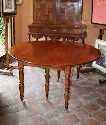 six feet round table mahogany massif