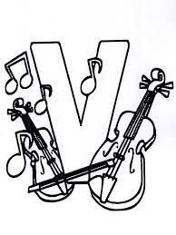 Muziek Alfabet V Kleurplaat Alfabet Clip Art Library