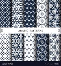 Arabic Patterns Extraordinary Arabic Patterns Royalty Free Vector Image VectorStock