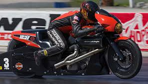 new harley davidson street rod drag bikes ready to race at
