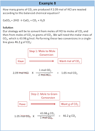 it is a small step from mole mass calculations to mass mass calculations if we start with a known mass of one substance in a chemical reaction instead of