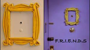 diy newspaper door phole frame f r i e n d s